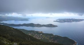 The beautiful landscape view of Kas, Turkey royalty free stock photos