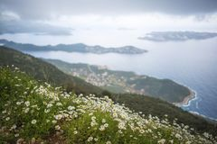The beautiful landscape view of Kas, Turkey stock image