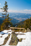 Beautiful landscape view from a mountain. At the Alps, Austria Stock Photos