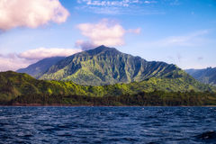Beautiful landscape view of Na Pali coastline from the ocean, Ka Stock Photography