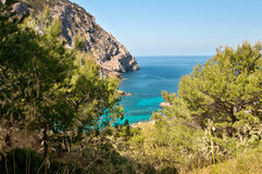 Beautiful landscape view to the blue sea Stock Images