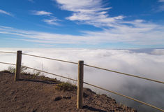 Beautiful landscape view from the Vesuvius Crater, Naples Stock Photo