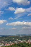 Beautiful landscape. View from the Wartburg castle. Eisenach, Germany Stock Photos