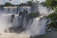 Beautiful landscape with views of the Iguazu Falls. Royalty Free Stock Images