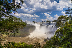 Beautiful landscape with views of the Iguazu Falls. Royalty Free Stock Photos