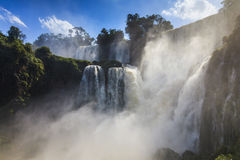 Beautiful landscape with views of the Iguazu Falls. Stock Images