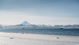 Beautiful landscape of Vilyuchinsky volcano and Avacha bay Stock Photography