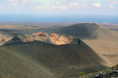 Beautiful landscape of the volcanic park Timanfaya on Lanzarote Stock Photos