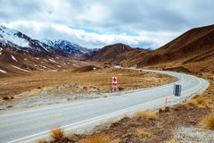 Beautiful landscape at waitaki district view point in south isla Royalty Free Stock Photos