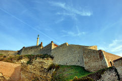 Landscape with old fortress. Beautiful landscape with walls of old fortress in Belgrade,Serbia Stock Image