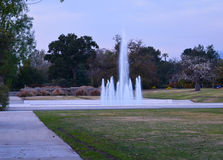 Beautiful landscape with a water fountain Stock Photo
