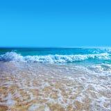 Beach and tropical sea. Beautiful landscape with white sand beach and tropical sea Stock Image
