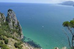 Beautiful landscape of wild nature and spanish paradise royalty free stock photos