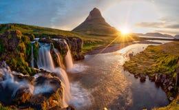 Free Beautiful Landscape With Sunrise On Kirkjufellsfoss Waterfall And Kirkjufell Mountain, Iceland. Stock Photography - 168746572