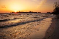 Free Beautiful Landscape With Sunset Fiery Sky. Stock Image - 68402761