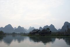 Landscape in Yangshuo, China royalty free stock image