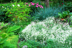 A beautiful landscaped garden Stock Photos