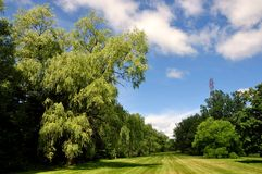 Beautiful landscaped park Royalty Free Stock Images