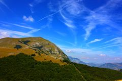 Beautiful Landscapes of the Apennines Royalty Free Stock Photo