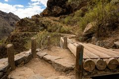 Beautiful landscapes of Barranco del Infierno in Tenerife. Royalty Free Stock Photography