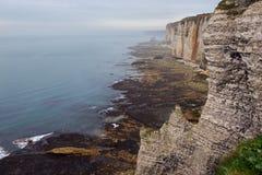 Beautiful landscapes of Etretat Stock Photo