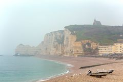 beautiful landscapes of Etretat royalty free stock images