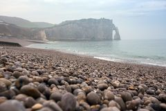 beautiful landscapes of Etretat stock image