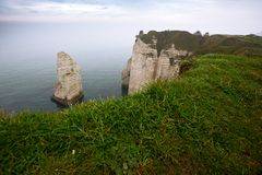 beautiful landscapes of Etretat royalty free stock image