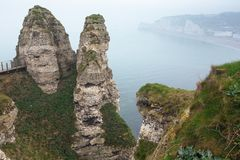beautiful landscapes of Etretat royalty free stock photo