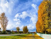 Beautiful landscapes of nature of Belarus. Beautiful landscapes. Extremely beautiful nature of Belarus. Warm autumn day in the city Royalty Free Stock Photography
