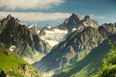 Beautiful landscapes with high mountains royalty free stock photography