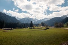Beautiful  landscapes of northern Italy. Trip to Italy Royalty Free Stock Image