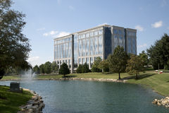 Beautiful landscapes and office buildings view Stock Photos