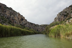 Beautiful landscapes at Preveli Royalty Free Stock Photos