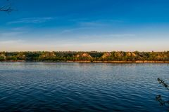 Beautiful landscapes of Russia. Rostov region. Colorful places. Green vegetation and rivers with lakes and swamps. Forests and mea royalty free stock photo