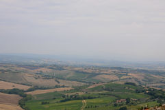 Beautiful landscapes in the Tuscan countryside near Montepulcia Stock Image