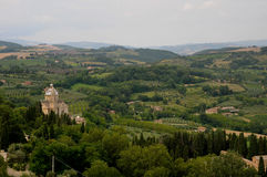 Beautiful landscapes in the Tuscan countryside near Montepulcia Stock Images