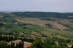 Beautiful landscapes in the Tuscan countryside near Montepulcia Stock Photos