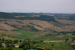 Beautiful landscapes in the Tuscan countryside near Montepulcia Stock Photo