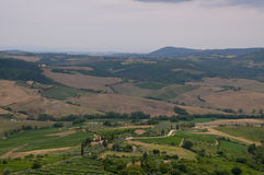 Beautiful landscapes in the Tuscan countryside near Montepulcia Royalty Free Stock Image