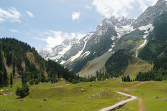 Beautiful landscpae of  hill and mountain in Sonamarg, Kashmir,I. Ndia Royalty Free Stock Photo