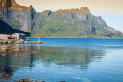 Beautiful Landsscape, Lofoten,Scandinavia, Europe. Royalty Free Stock Images