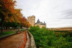 Beautiful Lane to Alcazar , Segovia Royalty Free Stock Photos