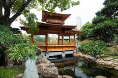 Beautiful lanscape of Nan Lian Garden, Hong Kong Royalty Free Stock Photo