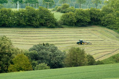 Beautiful lansdscape with Haymaking Royalty Free Stock Photos