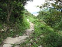 The Lantau trail near Ngong Ping Fun Walk, Lantau island, Hong Kong royalty free stock image