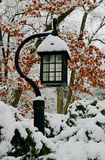Lantern after blizzard Royalty Free Stock Photo