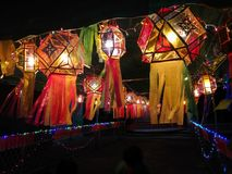 Beautiful lantern light. In the festival Stock Photography