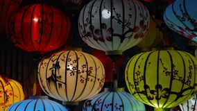 Beautiful lanterns in Hoi An old town. stock footage