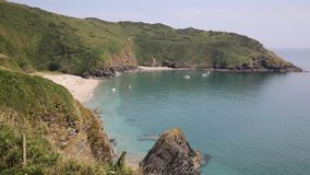 Beautiful Lantic Bay Cornwall England near Fowey and Polruan Stock Photos